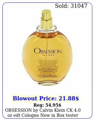 obsession by calvin klein ck oz edt cologne in teste