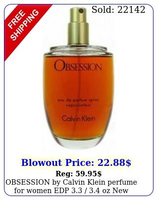 obsession by calvin klein perfume women edp  oz teste