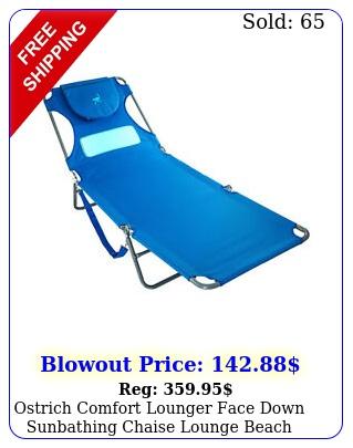 ostrich comfort lounger face down sunbathing chaise lounge beach chair blu