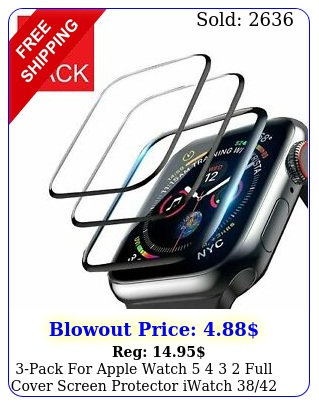 pack apple watch   full cover screen protector iwatch m