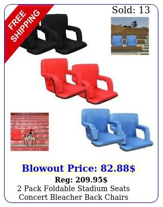 pack foldable stadium seats concert bleacher back chairs outdoor portabl