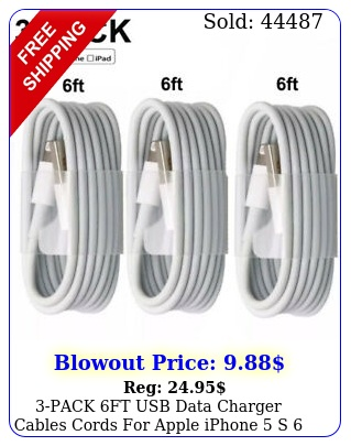 pack ft usb data charger cables cords apple iphone s  x plu