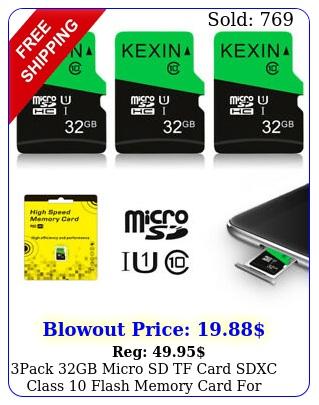 pack gb micro sd tf card sdxc class flash memory card phone camer