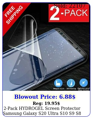 pack hydrogel screen protector samsung galaxy s ultra s s s plus not