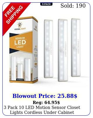 pack led motion sensor closet lights cordless under cabinet lightenin