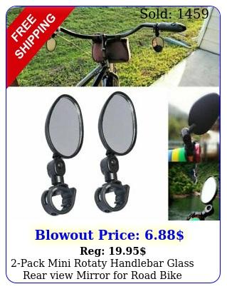 pack mini rotaty handlebar glass rear view mirror road bike bicycle u