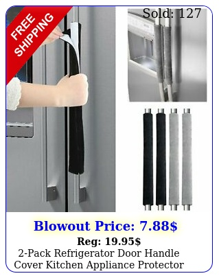 pack refrigerator door handle cover kitchen appliance protector smudges deco