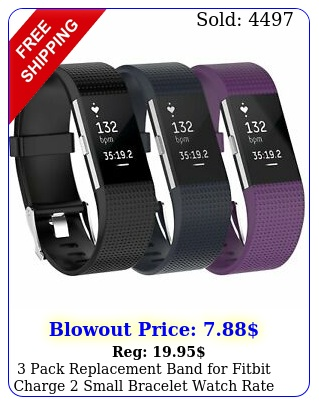 pack replacement band fitbit charge small bracelet watch rate fitnes