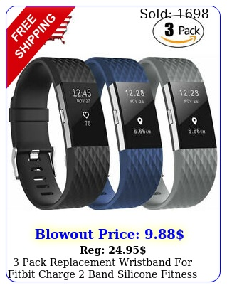 pack replacement wristband fitbit charge band silicone fitness larg