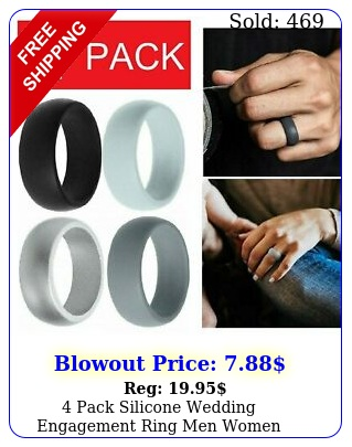 pack silicone wedding engagement ring men women rubber band gym sports u