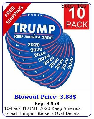 pack trump keep america great bumper stickers oval decals blu