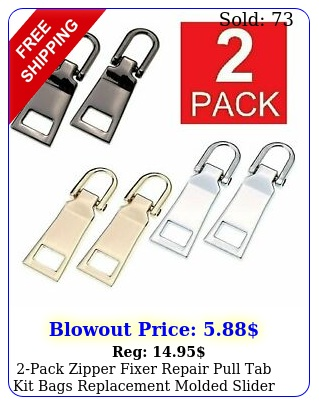 pack zipper fixer repair pull tab kit bags replacement molded slider fi
