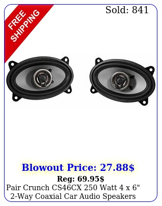 pair crunch cscx watt x way coaxial car audio speaker