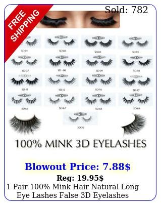 pair mink hair natural long eye lashes false d eyelashes handmade makeu