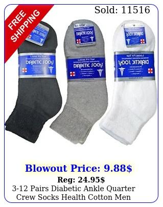 pairs diabetic ankle quarter crew socks health cotton men women circulator