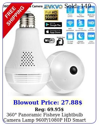 panoramic fisheye lightbulb camera lamp pp hd smart home securit