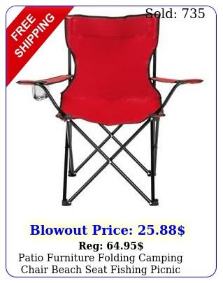 patio furniture folding camping chair beach seat fishing picnic outdoor bb