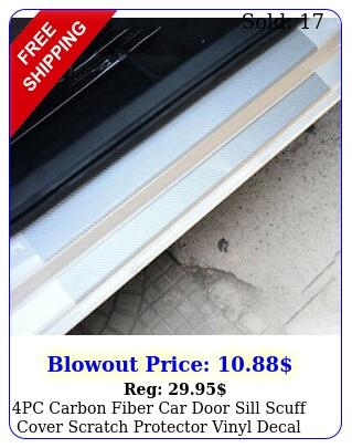 pc carbon fiber car door sill scuff cover scratch protector vinyl decal sticke