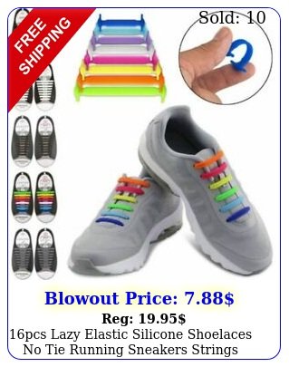 pcs lazy elastic silicone shoelaces no tie running sneakers strings shoe lace