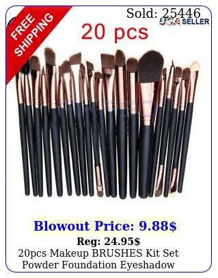 pcs makeup brushes kit set powder foundation eyeshadow eyeliner lip brus