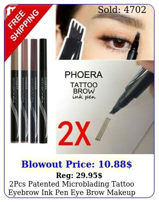 pcs patented microblading tattoo eyebrow ink pen eye brow makeup pencil s