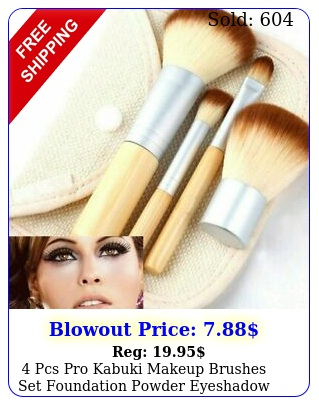 pcs pro kabuki makeup brushes set foundation powder eyeshadow blending brus