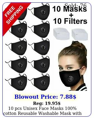 pcs unisex face masks cotton reusable washable mask with valv
