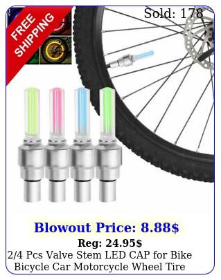 pcs valve stem led cap bike bicycle car motorcycle wheel tire light lam