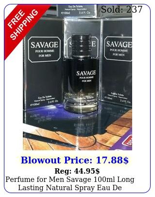 perfume men savage ml long lasting natural spray eau de toilette spra