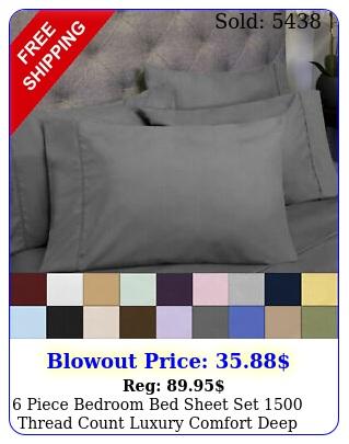 piece bedroom bed sheet set thread count luxury comfort deep pocke