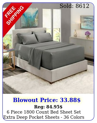 piece count bed sheet set extra deep pocket sheets  colors availabl
