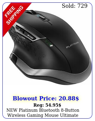 platinum bluetooth button wireless gaming mouse ultimate office laser gri