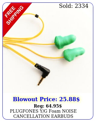 plugfones yg foam noise cancellation earbuds earplugs headphones ear protectio