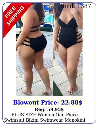 plus size women onepiece swimsuit bikini swimwear monokini swimming swim sui
