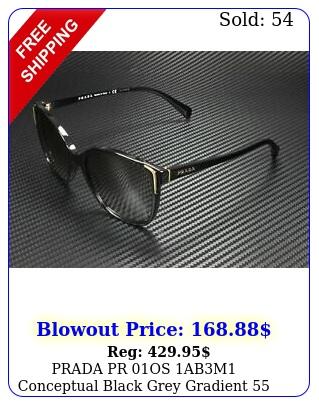 prada pr os abm conceptual black grey gradient mm women's sunglasse