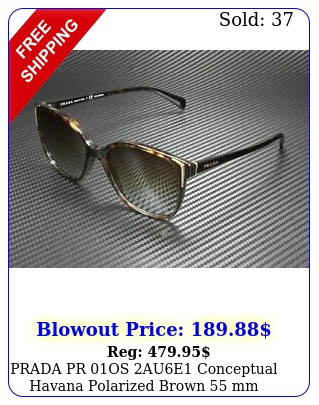 prada pr os aue conceptual havana polarized brown mm women's sunglasse