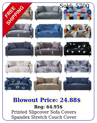 printed slipcover sofa covers spandex stretch couch cover furniture protecto