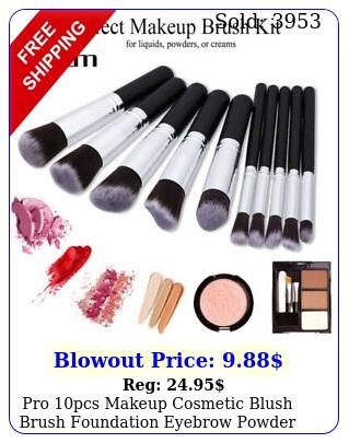 pro pcs makeup cosmetic blush brush foundation eyebrow powder brushes kit se