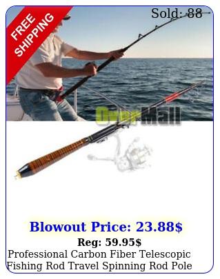 professional carbon fiber telescopic fishing rod travel spinning rod pole