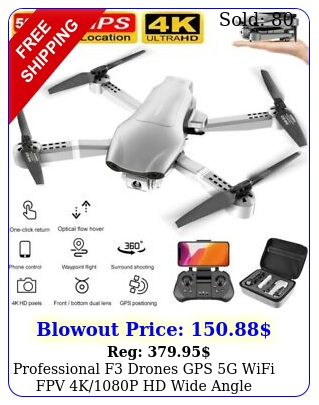 professional f drones gps g wifi fpv kp hd wide angle camera foldable u