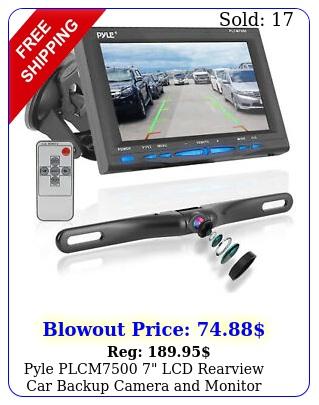 pyle plcm lcd rearview car backup camera monitor reverse assist ki