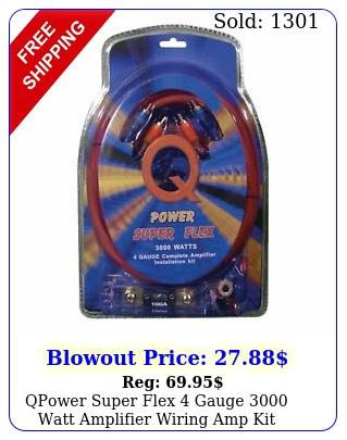 qpower super flex gauge watt amplifier wiring amp ki