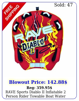 rave sports diablo ii inflatable person rider towable boat water tube raf