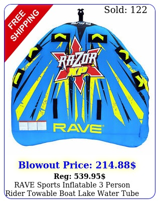 rave sports inflatable person rider towable boat lake water tube razor raf