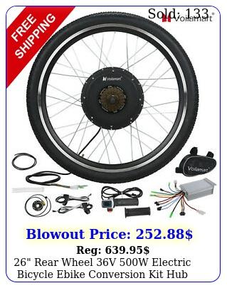rear wheel v w electric bicycle ebike conversion kit hub moto