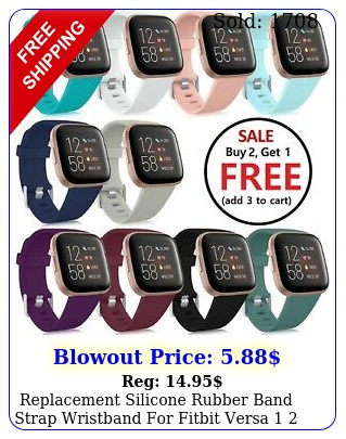 replacement silicone rubber band strap wristband fitbit versa  lite watc