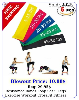 resistance bands loop set legs exercise workout crossfit fitness yoga boot