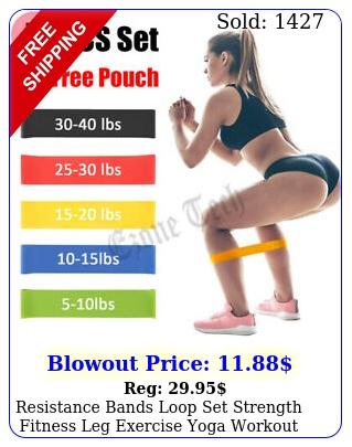 resistance bands loop set strength fitness leg exercise yoga workout pull u