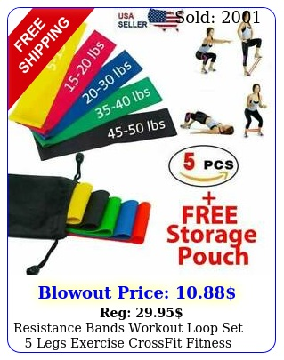 resistance bands workout loop set legs exercise crossfit fitness yoga boot
