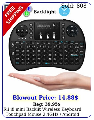 rii i mini backlit wireless keyboard touchpad mouse ghz android back ligh